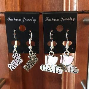 Jewelry - 2 Pair of CAT ❤️ Earrings